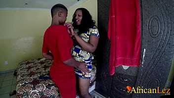 African Lesbians Tribbing In Dirty Backroom