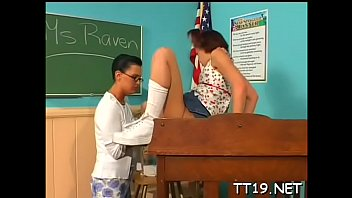 Filty teen schoolgirl gives head and gets shaved fur pie nailed