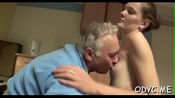 Videos of young guys getting fucked Tiny titted dilettante gets fucked in lots of poses by old guy