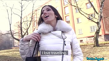 Public Agent Beautiful French Underwear Model Unexpected Fuck