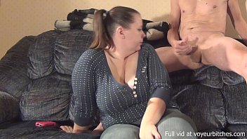 woman plays with naked guy