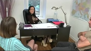 Dirty job interview for a young girl who must give her pussy thumbnail