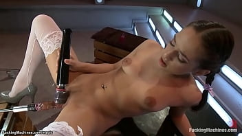 Little Latina squirting on Sybian