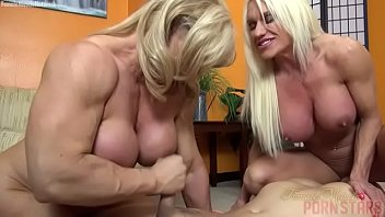 Muscular naked male - Naked female bodybuilders sex up lucky dude