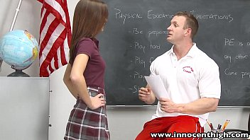 InnocentHigh Smalltits schoolgirl teen rides teachers cock thumbnail