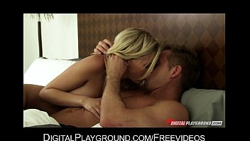 HOT blonde GF wakes up to take care of her man's morning wood