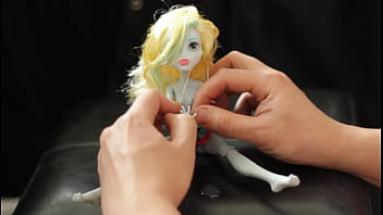 Vintage doll cloths Beautiful lagoona doll monster high gets drenched in cum 19 times