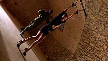 New skinny BDSM model Katrina Doda nude bondage and whipping
