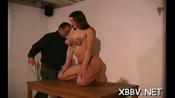 Astounding maid is playing with her rubber dildo