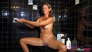 SofieMarieXXX - MILF Sofie Marie Washes Pussy Before Blowjob 11 min
