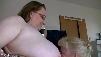 OldNannY Busty BBW Ladies Enjoying With Strapon