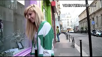 blonde teen does porn casting thumbnail