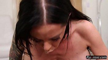 Brandy Aniston Deepthroat Milf HD; milf, blowjob, big-tits, brunette, deep, hd, 1080p, pornstar, 720