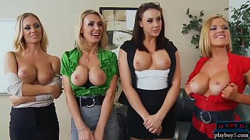 Office Xmas Party Turns Into An Orgy With Four Babes