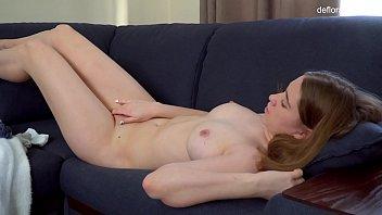 Cili Kocsonya does virgin casting and masturbates