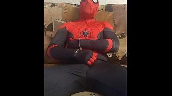 gay spiderman solo spandex suit