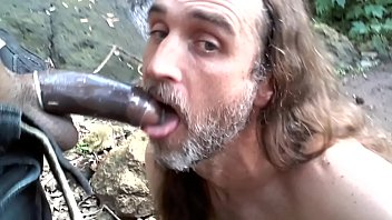 Gaygory sucking black cuban cock public park red thong g-string cock hungry american loves sucking hard dick