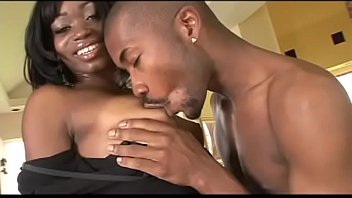 Black girl Cocoa Shanelle's shaved pussy gets filled with black cock