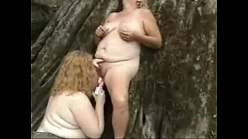 Pervert amateur lesbian grannies having fun outdoor