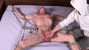 Big Dick Blonde Twink Cums After Being Whipped & Fucked In Bondage - Gay BDSM - DreamBoyBondage.com