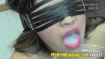 Premium Bukkake - Incognito swallows 61 big mouthful cum loads thumbnail