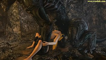 Alien sex fiend fire water burn Samus aran on a strange alien planet saga full video 3d porn
