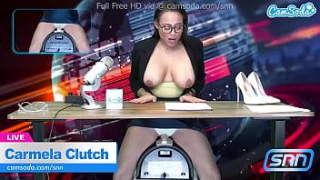 News Anchor Carmela Clutch Orgasms live on air 10分钟