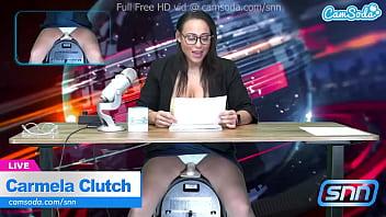 News Anchor Carmela Clutch Orgasms live on air 10 min