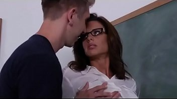 Additional lesson with his big boobs sexy teacher