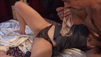 Sexy O2 T&A 669 04  French Good Slut Getting Her Ass and Pussy Broken Dressed in Satin Lingerie Stockings and High Heels POV