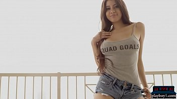 American adult model agencies Big boobs model elsa galvan gets naked on a balcony