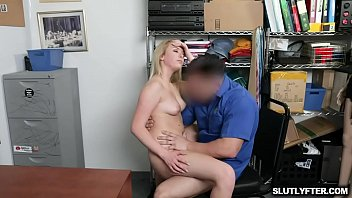 Sexy blonde thief Dixie Lynn gets her cooch fucked hard by the perv officer from behind until she is cumming multiple times
