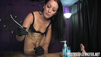 Amateur dominatrix - Captive male has cock bitten by mistress january seraph