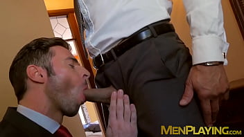 Dario beck gay Hung stud pounding his classy business partner balls deep