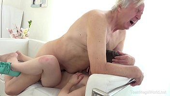 Babe bottom flat Old-n-young.com - luna rival - old man makes sweetie kneel
