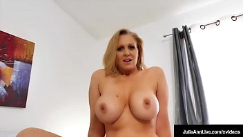 Busty Hot Step Mom Julia Ann Rides Her Step Sons Hard Throbbing Dick!