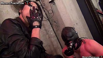 Mistress Tangent sensuous smoke and leather domination of male submissive Preview