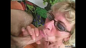 Mature hairy glasses brunette granny - Hairy granny loves young dick
