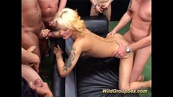 Squert bukkake orgies - German milf in bukkake groupsex orgy