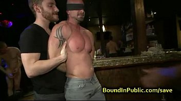 Prague gay bars Baldheaded gay gangbang fucked in bar