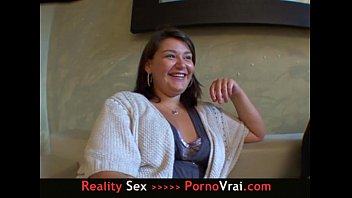 FRENCH Plump student with big breasts sex addict! 10 min