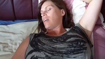 Breast cancer awareness ring Brunette milf wife showing wedding ring probes her asshole