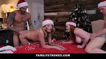 Perv Family Doing Orgy in Christmas - Charlotte Sins - Summer Hart