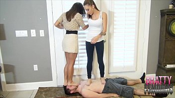 Femdom stomp trample tube - Facestanding and trampling princesses