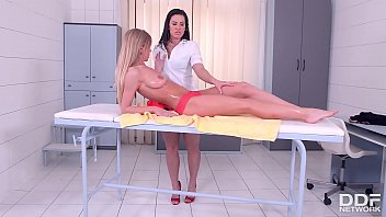 Euro pussy pain - Leggy lesbian masseuse athina fingers and licks leggy client lolly gartner