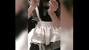 Amira Chuyue Asian School Girl Crossdresser  New Toy Arrived ! Maid Dress