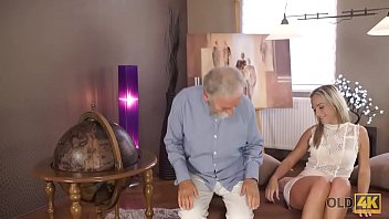 OLD4K. Old pedagogue uses chance to make love with thankful girl thumbnail