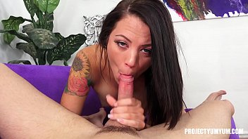 Audrey Miles blowjob and swallow teaser