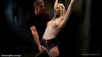 Blonde rough fucked and whipped