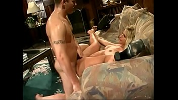 Blonde girl Tina Cheri is getting her pussy eaten by her boyfriend